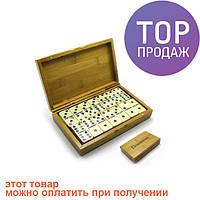 Домино в бамбуковом футляре (19х12х3 см) / Настольные игры