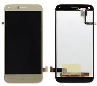Оригинальный дисплей (модуль) + тачскрин (сенсор) для UMi London (золотой цвет)