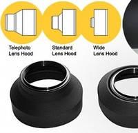 Универсальная, трех-позиционная, резиновая бленда Massa — Аксессуары для объективов