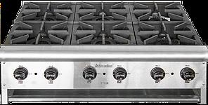 Плита газовая настольная 6-ти конфорочная ТТ6-36  CustomHeat