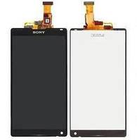 Дисплей (экраны) для Sony C6502 L35h Xperia ZL/C6503 L35i/C6506 + с сенсором (тачскрином) черный Оригинал