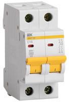 IEK Автоматический выключатель ВА47-60 2P 3А 6 кА х-ка С (MVA41-2-003-C)