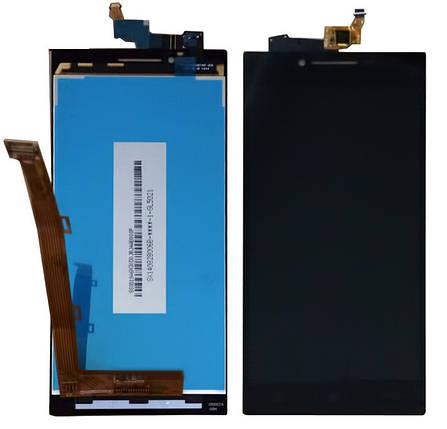 Дисплей (экран) для Lenovo P70 + с сенсором (тачскрином) черный Оригинал, фото 2