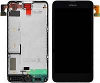 Дисплей (экран) для Nokia 630 Lumia 635/636/638 (RM-974) + с сенсором (тачскрином) и рамкой черный Оригинал