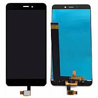Дисплей (экран) для Xiaomi Redmi Note 4 + с сенсором (тачскрином) черный Оригинал