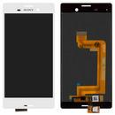 Дисплей (экран) для Sony E2303 Xperia M4 Aqua с сенсором (тачскрином) белый Оригинал