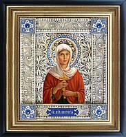 Святая Виктория икона  скань