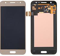 Дисплей (экран)для Samsung J200F Galaxy J2, J200G/J200H/J200Y + с сенсором (тачскрином) золотистый Оригинал