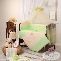 Сменный детский комплект постельного белья Маленькая Соня цвет салатовый