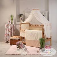Сменный детский комплект постельного белья Ангел цвет шоколадный