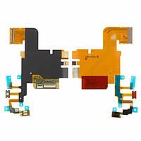 Шлейф для Sony LT28h Xperia Ion, с микрофоном, с кнопкой камеры, с компонентами