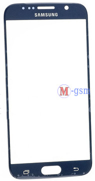 Корпусное стекло Samsung G920F Galaxy S6 синее