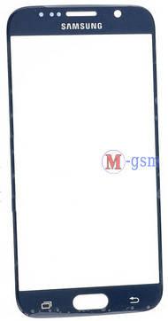 Корпусное стекло Samsung G920F Galaxy S6 синее, фото 2
