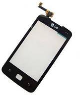 Сенсор (тачскрин) LG E510 Optimus Hub Black