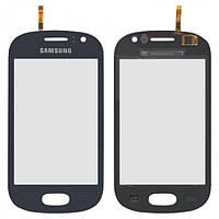Сенсор (тачскрин) Samsung S6810 Galaxy Fame синий