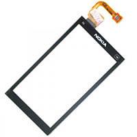 Сенсор (тачскрин) Nokia X6-00 с металлической рамкой Black