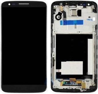 Дисплей (экран) для LG D800 G2 з сенсором (тачскріном) и рамкой черный Оригинал, фото 2
