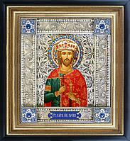 Святой Глеб скань икона