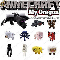 "Набор игрушек Майнкрафт - ""My Dragon"" - 11 в 1. Дракон края (50 см.) в Подарок! , фото 1"