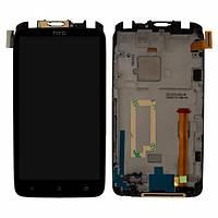 Дисплей (экран) для HTC S720e One X G23 + с сенсором (тачскрином) и рамкой черный Оригинал