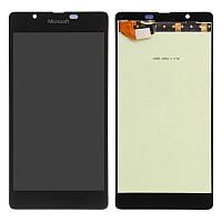 Дисплей (экран) для Microsoft (Nokia) 540 Lumia Dual Sim (RM-1140) + с сенсором (тачскрином) черный Оригинал