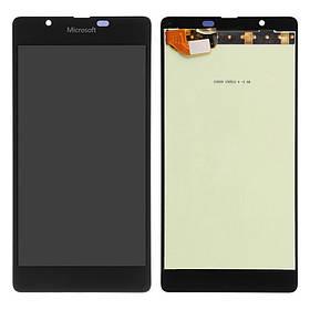 Дисплей (экран) для Microsoft (Nokia) 540 Lumia Dual Sim (RM-1140) с сенсором (тачскрином) черный
