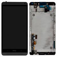 Дисплей (экран) для HTC 803n One Max + с сенсором (тачскрином) и рамкой черный