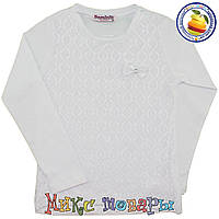 Белая блузка для девочек от 6 до 13 лет (5462-1)