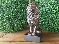 Красивая статуэтка Veronese Лев с бронзовым покрытием 76813A4