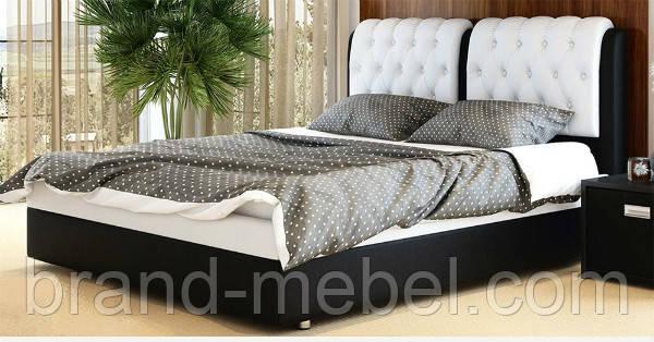Ліжко двоспальне у м'якій оббивці Скарлет / Кровать двуспальная в мягкой обивке Скарлет