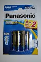 "Батарейки ""PANASONIC"" Evolta AAА LR03 BLI (4+2) Alkaline (мизинец) (6 шт/уп), фото 1"