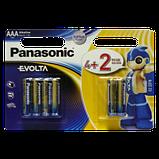 "Батарейки ""PANASONIC"" Evolta AAА LR03 BLI (4+2) Alkaline (мизинец) (6 шт/уп), фото 2"