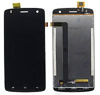 Дисплей (экран) для Fly IQ4503 Era Life 6 + с сенсором (тачскрином) черный Оригинал