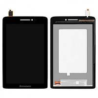 Дисплей (экран) Lenovo S5000 с сенсором (тачскрином) черный Оригинал