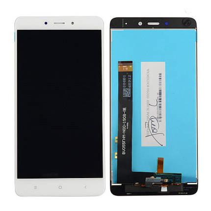 Дисплей (экран) для Xiaomi Redmi Note 4 + с сенсором (тачскрином) белый, фото 2