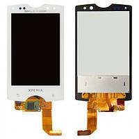 Дисплей (экран) для Sony Ericsson Xperia Mini Pro SK17i + с сенсором (тачскрином) белый