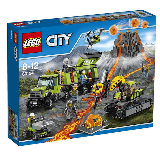 LEGO 60124 City База дослідників вулканів (Лего сити 60124 База исследований вулканов, Volcano Explor Base)