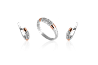 Серебряный комплект украшений Лорен, фото 1