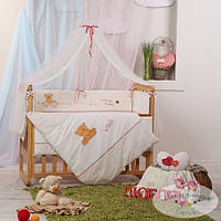 Балдахин на детскую кроватку  Детские мечты цвет my mammy красный
