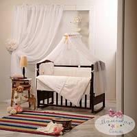Балдахин на детскую кроватку   шифоновый 4м Darling цвет шоколадный