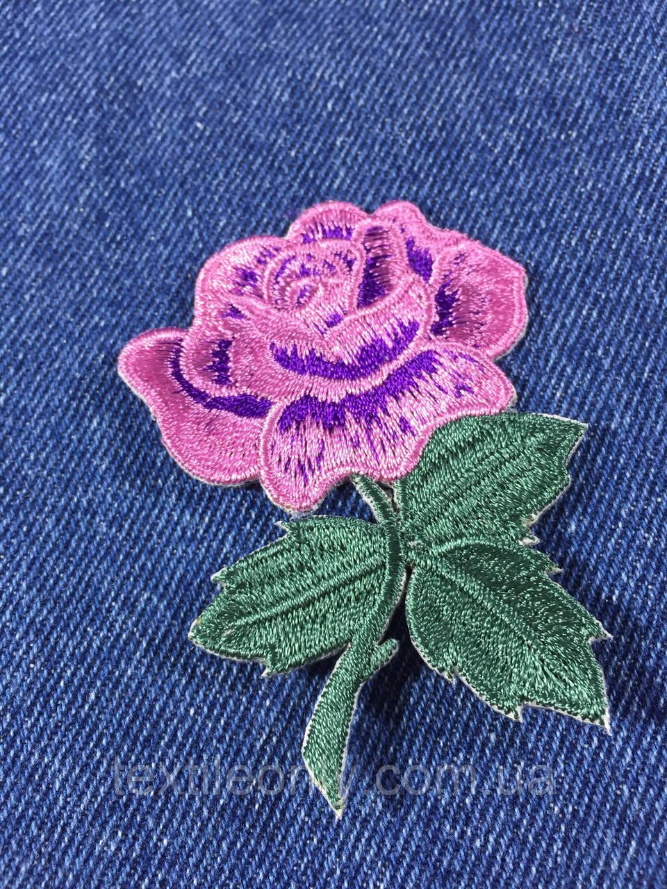 Нашивка Роза s цвет сиреневый