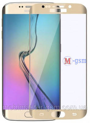 Корпусное стекло Samsung G925F Galaxy S6 Edge золотистое