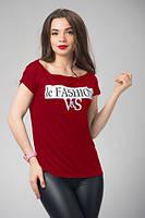 """Женская футболка с надписью на груди """"Fashion"""""""