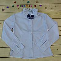 Нарядная блузка с длинным  рукавом Белоснежка  для девочки на рост 116-158