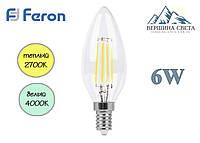 Светодиодная лампа свеча 6W Feron LB-158 230V E14