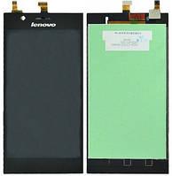Дисплей (экран) для Lenovo K900 + с сенсором (тачскрином) Black