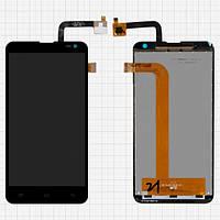 Дисплей (экран) для Fly IQ4514 Quad EVO Tech 4/Nous NS 5 + с сенсором (тачскрином) черный
