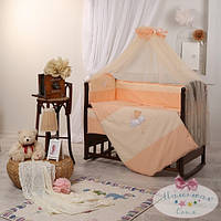Защита  на молнии 35 см и простыня  Маленькая Соня цвет персиковый
