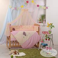 Защита  на молнии 35 см и простыня  Детские мечты цвет воображуля розовый