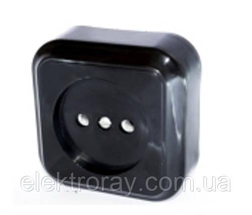 Розетка Светоприбор черная, фото 2